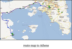 route map to Athens