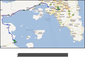 χάρτης διαδρομής προς Αθήνα