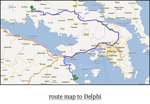 route map to Delphi