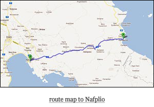route map to Nafplio