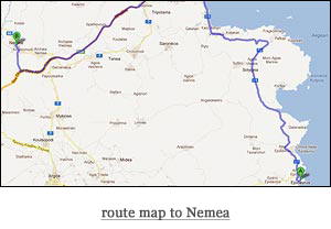 route map to Nemea