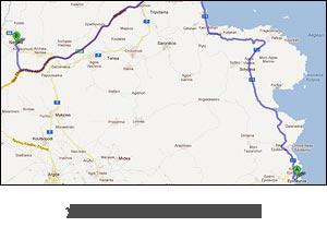 χάρτης διαδρομής προς Νεμέα