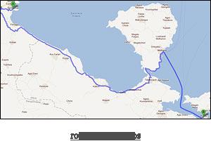 route map to Poros