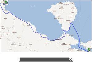 χάρτης διαδρομής προς Πόρο