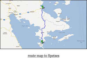 route map to Spetses